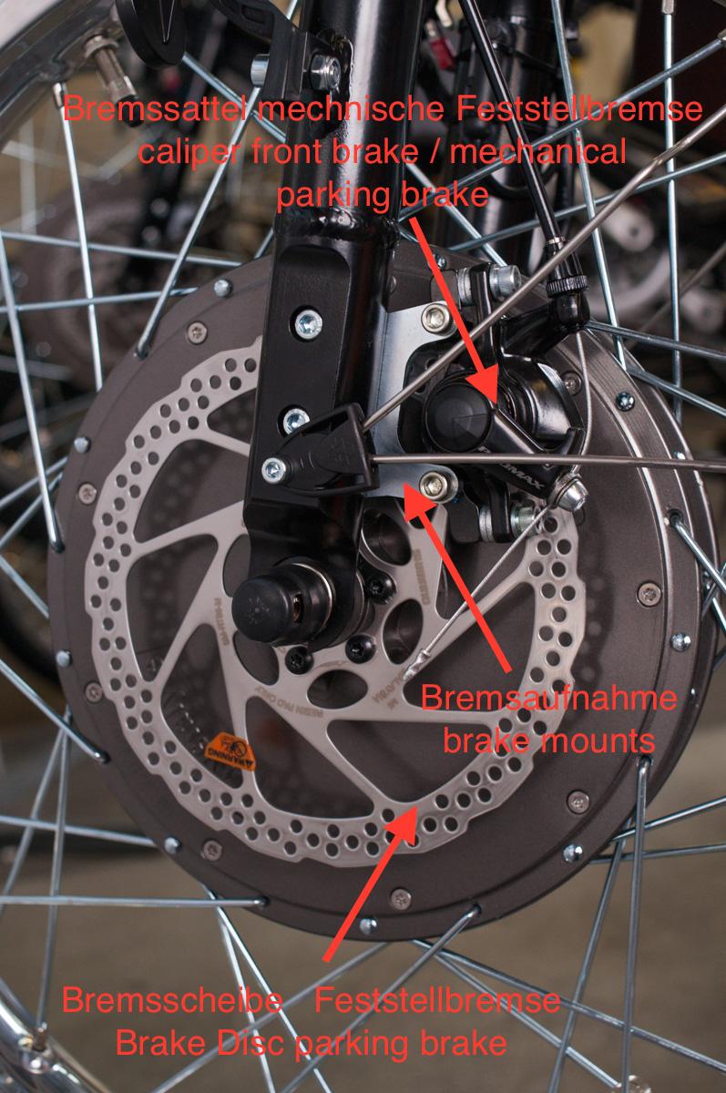 Bremssystem Feststellbremse Vorderrad CRUISER / BRING