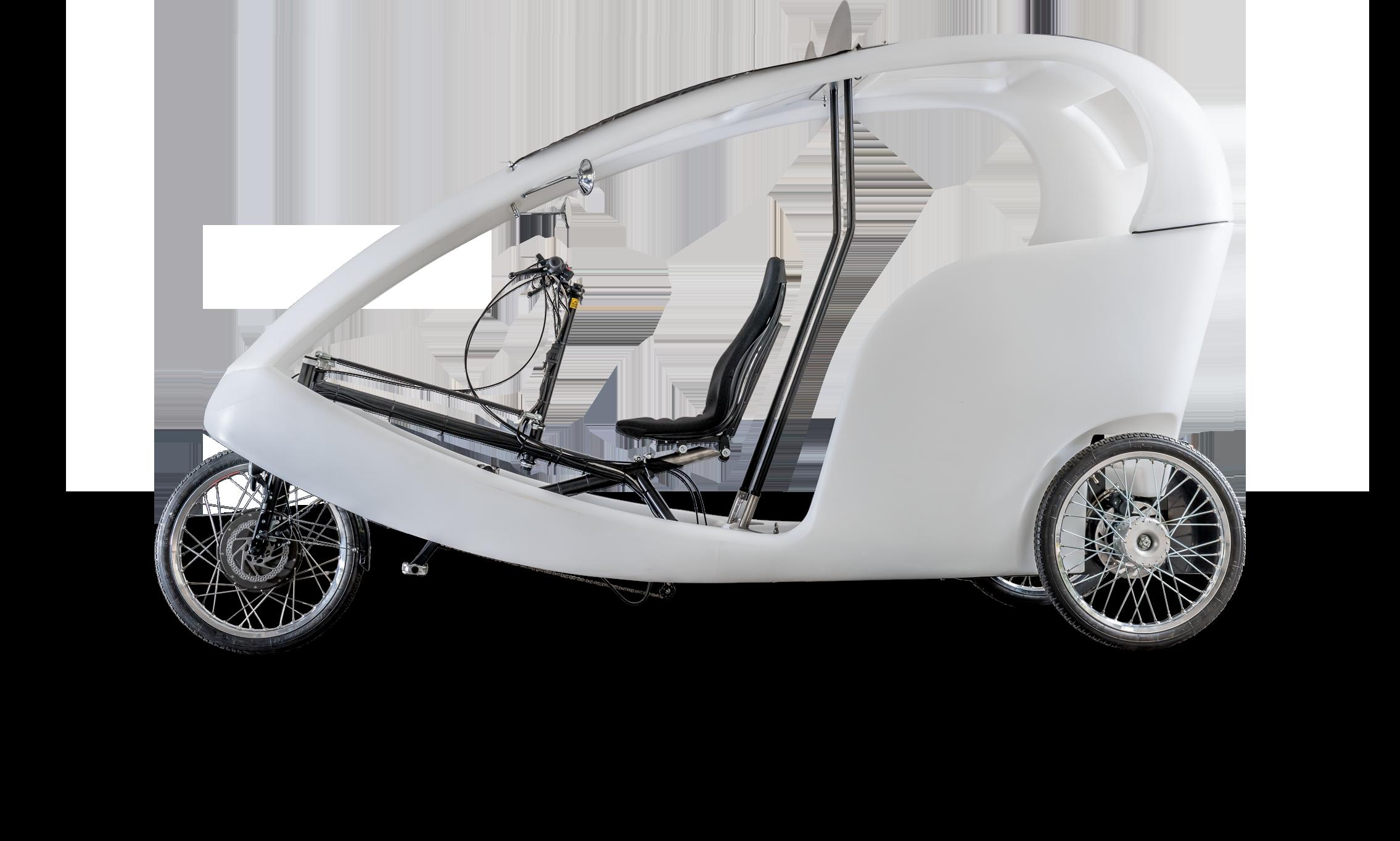 CRUISER - DAS VELOTAXI SINGLE MOTOR DRIVE 48V 250W 100 Nm / Nabenmotor im Vorderrad CargoPower