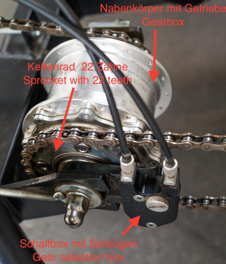Upgrade Nabenschaltung auf Speed Hub Gear Rohloff 500 / 14 CRUISER / BRING
